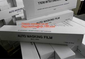China PE Plastic masking taped protective film for paint protection, Easy Tearing Tissue Paper Auto Paint Masking Film on sale