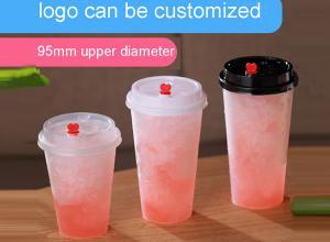 500ml 650ml 750ml Milk Tea Disposable Smoothie injection PP