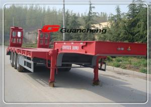 China Hydraulic Gooseneck Low Bed Semi Trailer With 3 Axles Air Suspension on sale
