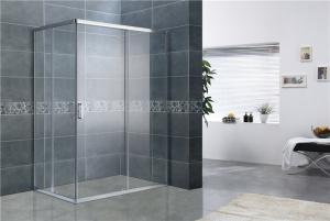 China Bright Silver Rectangular Shower Enclosure 8MM Tempered Glass EN12150 For Home / Hotel on sale