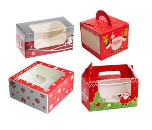 China Personalised Christmas Packaging Boxes With Clear Window Environmental Friendly on sale