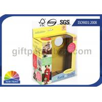 China Custom Kids Toys / Dolls Corrugated Packaging Box with Clear Windows , Paper Gift Boxes on sale