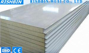 China Polyurethane Insulation Sheet PU Sandwich Panel 30mm - 120mm Thickness on sale