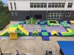 0.9mm PVC Tarpaulin Inflatable Water Park For Resort / Seashore