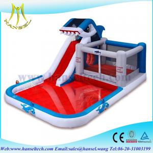 China Hansel commercial High quality inflatable super slide with cheaper price water pool slide on sale