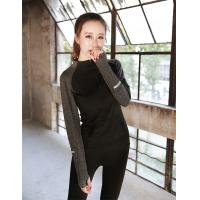 China Loose Casual Long Sleeve Running Shirt Womens 0.3kg PCS Gauge Computer Knitting on sale