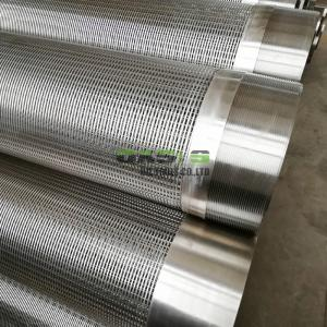 China China Wedge Wire Screen Pipe/ Johnson V wedge wire screen SS304 tube well strainer from C on sale