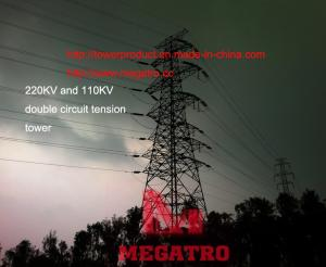 220KV and 110KV double circuit tension tower for sale