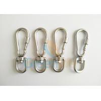 Stainless Steel 304 Swivel Carabiner Hook , Exculsive Stronger Type Spring Snap Hook