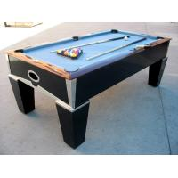 Deluxe 7FT pool table solid wood billiard table chromed metal coner for club and family