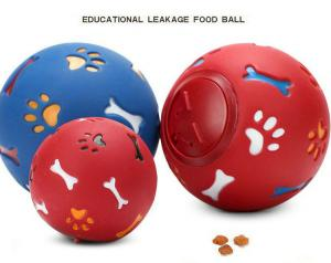 China Pets Dog Toy Eco-friendly Rubber Ball Toys Goods for Dog food leaking Balls Chew Toys Training Food Control Lose Weight on sale