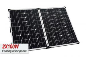 Quality Lightweight 200 Watt Folding Camping Solar Panels With Latches And Handle for sale