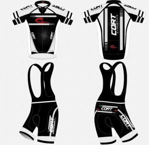 China Black And White Popular Cycling Clothing Men's / Women's Customized Sportswear on sale