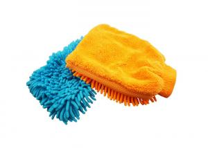 China Microfiber Chenille Car Cleaning Glove Mitt / Quick Dry Car Cleaning Glove / Car Wash Mitt on sale