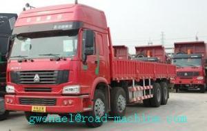 China SINOTRUK HOWO 8x4 Heavy Cargo Trucks / Diesel Box Stake Truck ZZ1317N3867N1 on sale