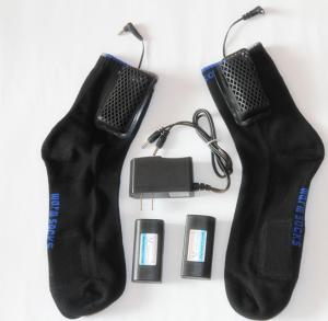 China heating socks with lithium rechargeable battery and charger on sale