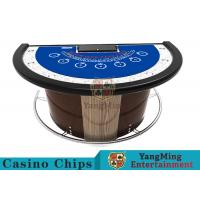 Stainless Steel Fender Half Round Poker Table For Blackjack Gambling Game