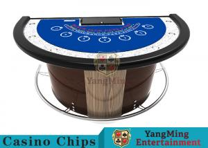 China Stainless Steel Fender Half Round Poker Table For Blackjack Gambling Game on sale