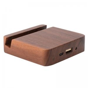 China 5200mAh Emergency Wooden Phone Charger , Ultra - Thin Easy Carry Power Bank on sale