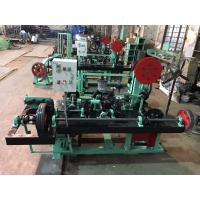 China Horizontal Double Twist Barbed Wire Machine / Barbed Wire Making Machine For Meadow Defense on sale