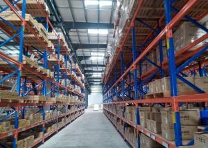 China High Height Vertical Pallet Storage Racks , Selective Industrial Metal Shelving Timber Furniture Pipe Tubes Stock on sale