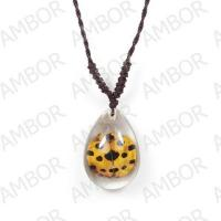 Fashion Jewelry,Real Insect Ambor Necklace