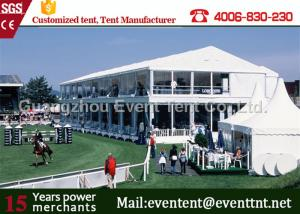 China Easy Installation pvc  Two Floor Tent White , A Frame Marquee Party Tent With Flooring on sale