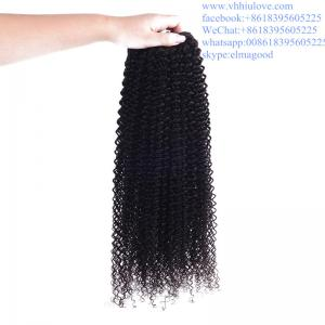 China factory price Hair Weaves For Black Women, Brazilian 6a kinky curly hair weave on sale