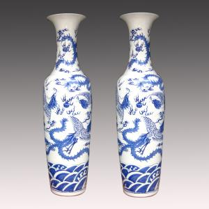 China chinese decorative large jingdezhen ceramic vase on sale