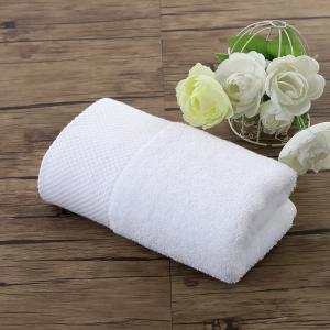 China Factory price white luxury hotel towels 35*75cm cotton terry towel on sale