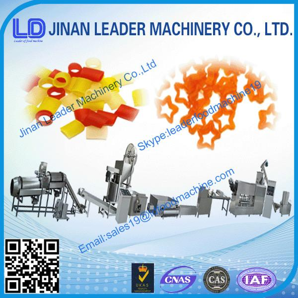 cost-saving pellet extruding and frying manufacturing machine