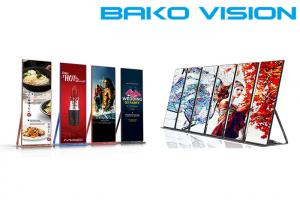 China Slim and Lightweight Indppr Shop Mall Window LED Display Standing Poster LED Screen on sale