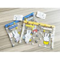 Cute Carton Print Transparent Pencil Pouch For Student / Stationery Zipper Storage Pouch