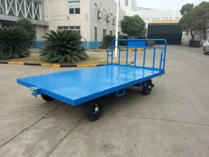 China Portable Airport Baggage Trailer Fool Proof Design Hitch With 3 mm Checker Plate on sale