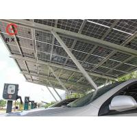 3.0KWp Solar Car Charging Station , Solar Car Parking Shed 2.5m~4m Height