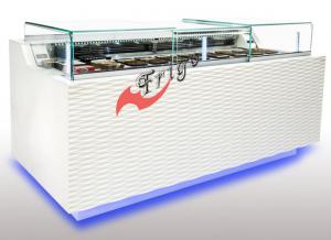 China Free Standing Chocolate Display Fridge 1.1 KW Power 1100 L Capacity With Sliding Door on sale