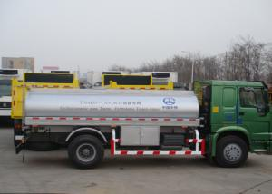 China 4x2 6600L Mobile Fueling Trucks / Refuel Oil Tanker Truck For Gasline And Diesel on sale