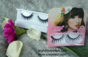 China Human hair knitting synthetic knitting handmade eyelash on sale