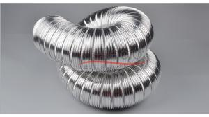 China Semi-Rigid Flexible Aluminum Duct Metal Air Duct Fire Resistant Pipe on sale