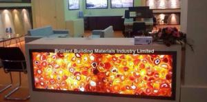 China Backlit Red Agate Inlayed Panel for Reception Counter on sale