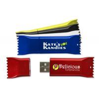 China Customizable Plastic USB Flash Drive Memory Stick Flash Card Candy Shape on sale
