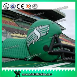 China Inflatable Helmet Tunnel For Football Sports on sale