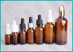 China Amber Glass Dropper Bottles With Different Types Dropper / Essential Oil dropper bottle on sale