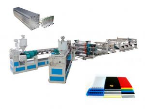 China Auto Cutter Plastic Sheet Extrusion Machine / Single-Screw Extruder CE ISO on sale