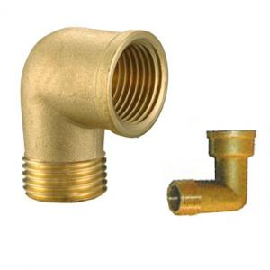 China Elbow hose fittings/Brass elbow reducer/Reducing nipple/OEM precision brass hose screw fitting/Brass elbow connector on sale