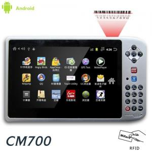 "China 7"" Rugged UHF RFID reader Android tablet PC PDA with 1D 2D barcode scanner on sale"