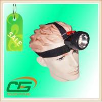 Portable 80 Lumen High Power LED Mining Cap Lamp 3.7V 4.2V With PC Plastic Case