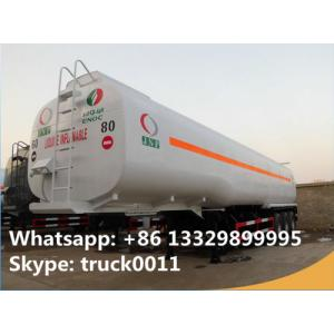 China 42000L diesel gasoline fuel transport tanker trailer 42m3 tanzania oil tanker semi trailer, CLW triple axles fuel tank t on sale