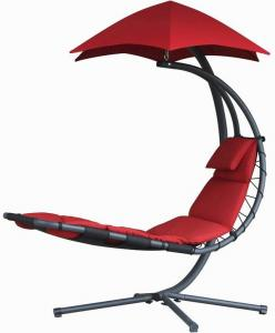 China Durable Other Furniture Single Fabric Swing Chair With Canopy , Hanging Patio Chair With Stand on sale