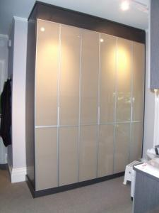 China Water Resistant Lacquered Glass Oyster White on sale
